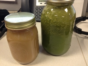 Grape-fig juice; apple-kale juice