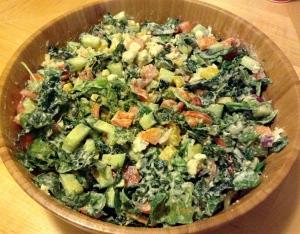 Mediterranean Salad w/ FullyRaw Hummus