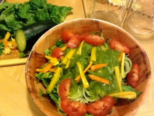 Second Course Dinner: Salad w/ Cucumber Noodles